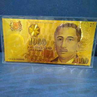 SG $1000 Gold Foil Notes (Color)