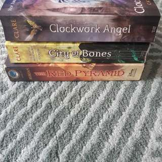Preloved Clockwork Angel, City of Bones, The Red Pyramid