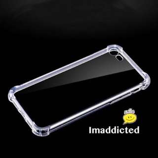 Clear bumper case for iPhone and Samsung