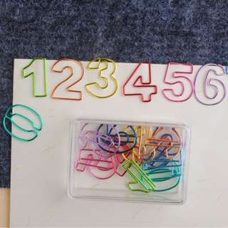 Colorful Numbers Paper Clip #Huat50Sale