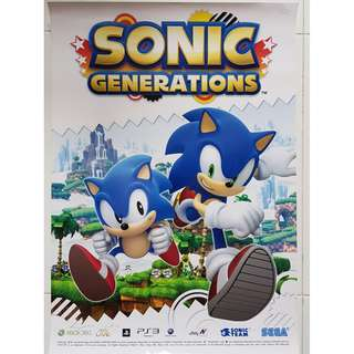 Sonic Generations A2 Size Poster