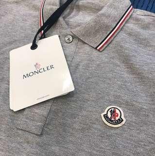 Moncler Men Polo shirt tshirt tee grey size S *情人節禮物首選*