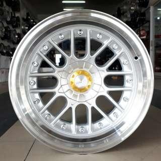 Velg HSR ATLANTIC R17x8.5-10 h4/100-114,3 silver polish