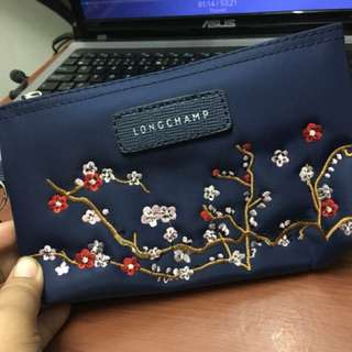 Longchamp Embroidered Pouch