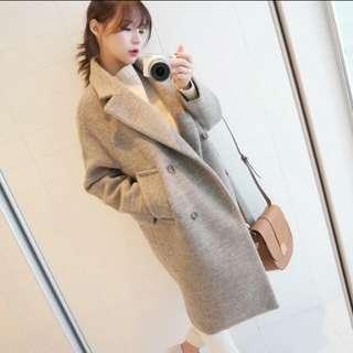 🚚 韓版毛呢大衣