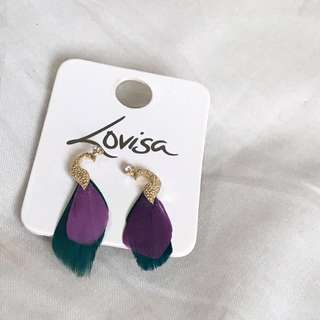 Peacock Earrings | FREE with any purchase