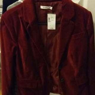 BNWT Dark Red Ricki's Blazer - Size 8