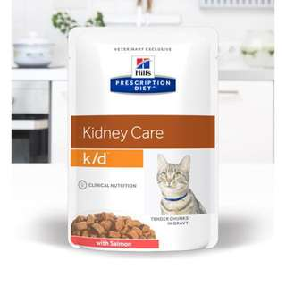 Hills Kidney Care k/d 85g Pouch with Salmon (Feline Cat Renal Wet Can Food)