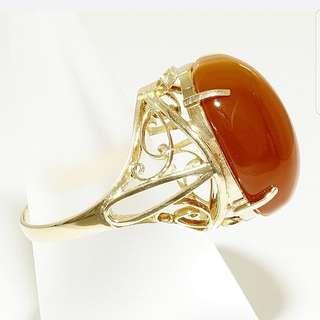 18k Agate Ring