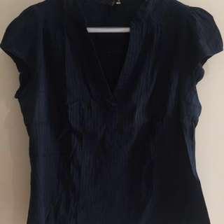 H&M Navy Blue plus size Blouse