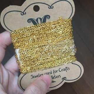 Gold chain - per metre