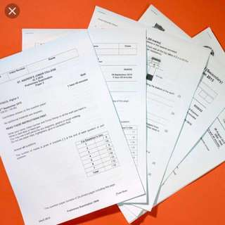 2016/2017 past year TOP SCHOOl exam paper (primary and secondary all available)-hard copy with answer