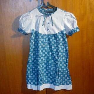 Dress Baju Terusan Batik Katun Anak Perempuan Garage Sale