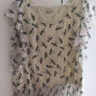 Forever 21+ 1X stretchy Off-white blouse