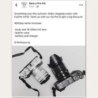 Fujifilm XA10 for rent