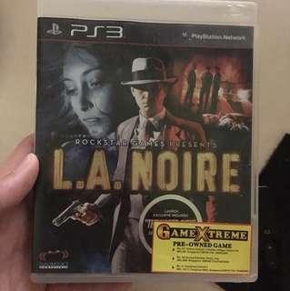 LA noire ps3 PlayStation
