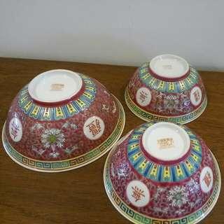 3 Wan Sho Wu Jiang Soup Bowl Of Different Size