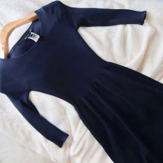 Mango Navy Blue comfy dress