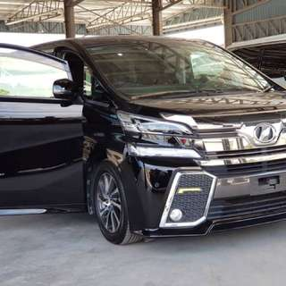 Vellfire 2.5 (A) Robot Black Sunroof