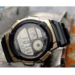 Montres Company香港註冊公司(25年老店) CASIO standard AE-1000 AE-1000W AE-1000W-1 AE-1000W-1A3 七隻色都有現貨 AE1000 AE1000W AE1000W1 AE1000W1A3