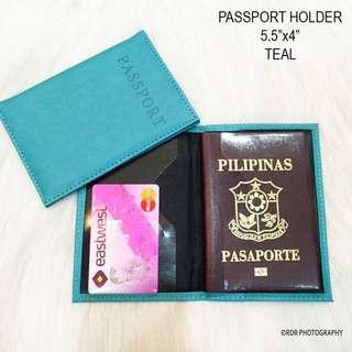 Passport Leather Holder (Teal)