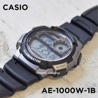 Montres Company香港註冊公司(25年老店) CASIO standard AE-1000 AE-1000W AE-1000W-1 AE-1000W-1B 七隻色都有現貨 AE1000 AE1000W AE1000W1 AE1000W1B