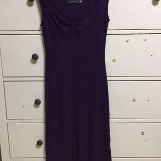 Glordano /ladies 氣質款紫長洋裝#女裝半價拉