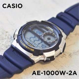 Montres Company香港註冊公司(25年老店) CASIO standard AE-1000 AE-1000W AE-1000W-2 AE-1000W-2A 七隻色都有現貨 AE1000 AE1000W AE1000W2 AE1000W2A