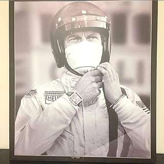 Tag Heuer Watch Chronograph Racing Poster with wood frame