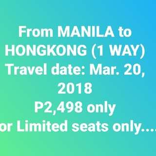 Manila to Hongkong ( 1 way)