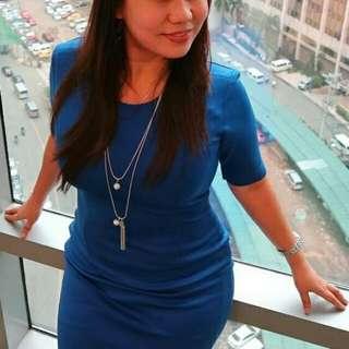 Pre-loved custom tailored neoprene dress