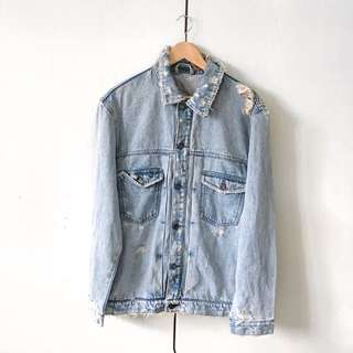 Bershka Ripped Denim Jacket