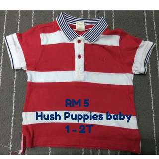 Hush Puppies T-Shirt for boy 1 - 2T - Preloved, (RM5)