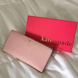 Kate Spade Cedar Street wallet in Baby Pink