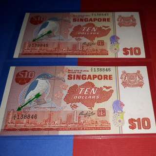 $10- BIRD 2PCS RUNNING .REPLACEMENT . NOTE Z/4-138845-46.UNC