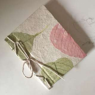 Organic Natural Dried Leaves Paper Notebook Textured