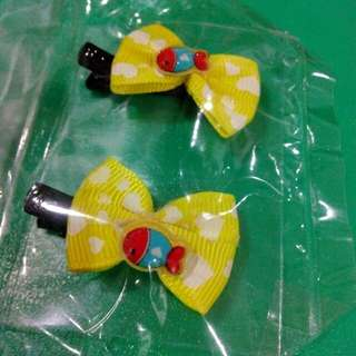 Kid ribbon hair clip