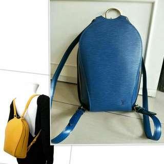 Lv Epi Backpack Blue