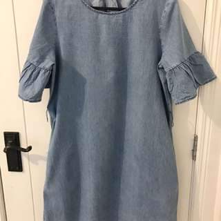 Cotton on denim bell sleeves dress