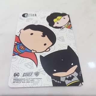 Ez-link card Limited edition DC justice league used