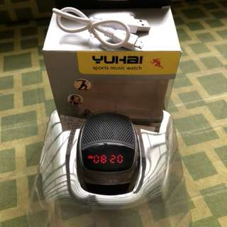 Yuhai B90 Digital Speaker Sports Watch (Grey/Black)