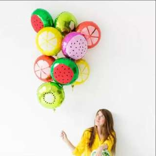 Fruit Balloons 5pcs per design