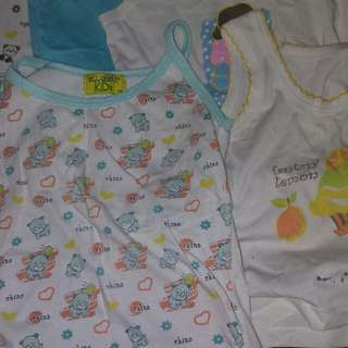 Preloved sando and 1 pajama for baby girl (used but not abused