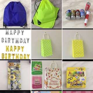 Goodies bag for party decorations