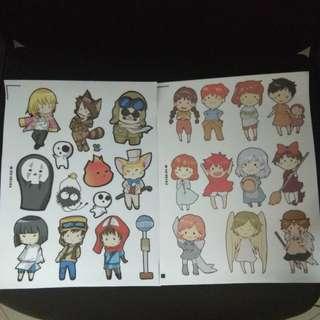 Studio Ghibli sticker sheets