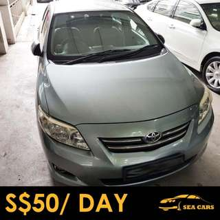 Car Rental for GRAB/UBER/PERSONAL - Toyota Corolla Altis