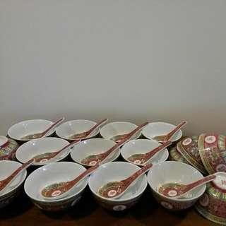 Wan Sho Wu Jiang Rice Bowl And Spoon