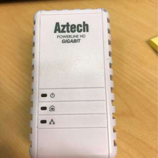 aztech 1GB powerline lan adapter
