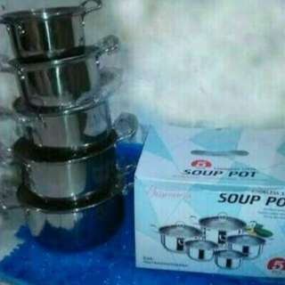 Panci set/panci SOUP POT (gagang stainless)