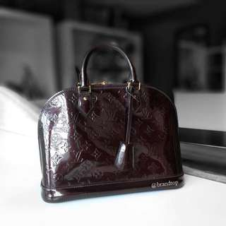 Authentic Louis Vuitton Amarante Vernis Alma PM LV
